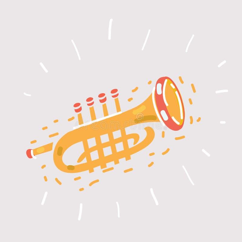 Trompetenikone auf Weiß lizenzfreie abbildung