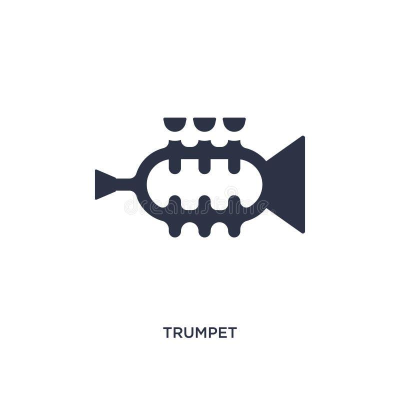 Trompetenikone auf weißem Hintergrund Einfache Elementillustration von brazilia Konzept stock abbildung