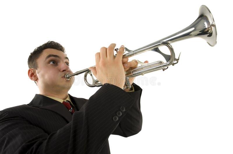 Trompetespieler lizenzfreie stockfotos