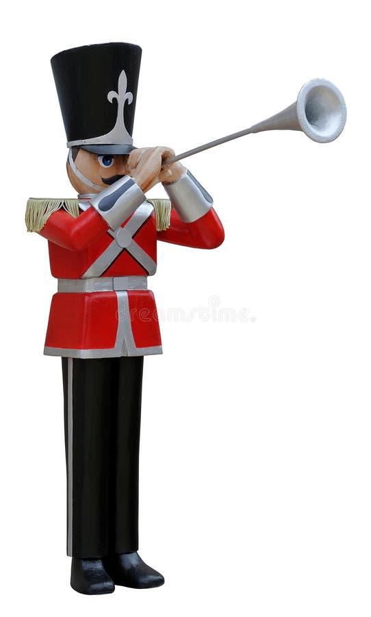 Trompetista do soldado de brinquedo imagens de stock
