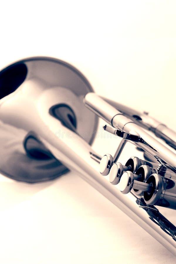 trompette d'or image libre de droits