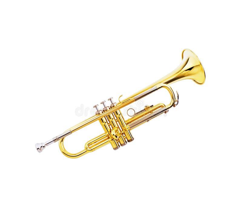 Trompette de laque d'or photo libre de droits