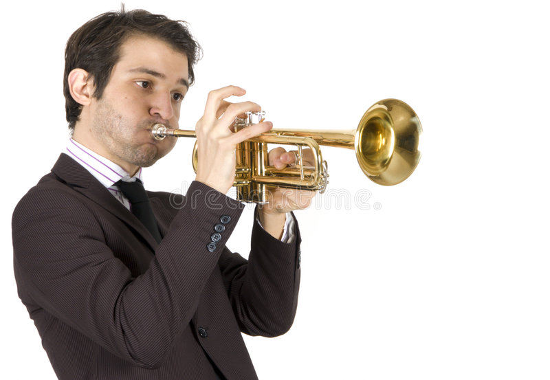 trompette de musicien photographie stock