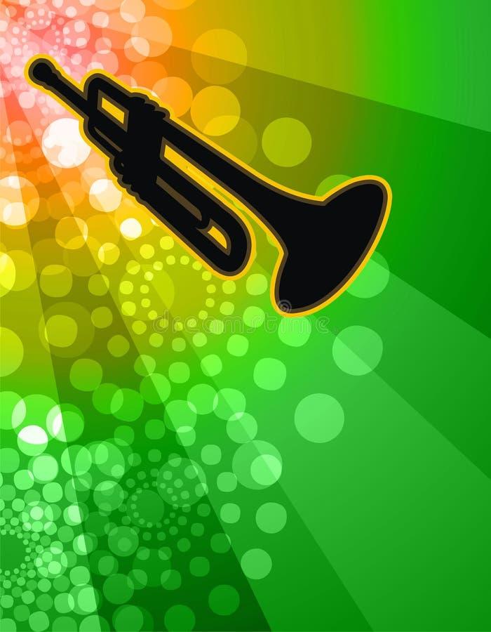 Trompette soloe - fond de boîte de nuit illustration libre de droits