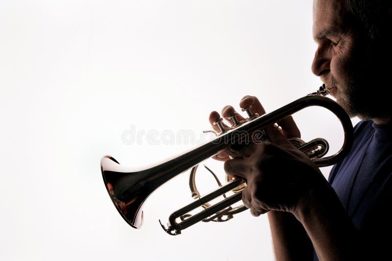 Trompetter 05 royalty-vrije stock afbeelding