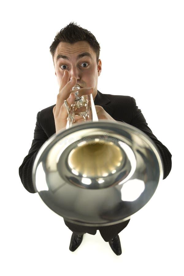 Trompetter stock afbeelding