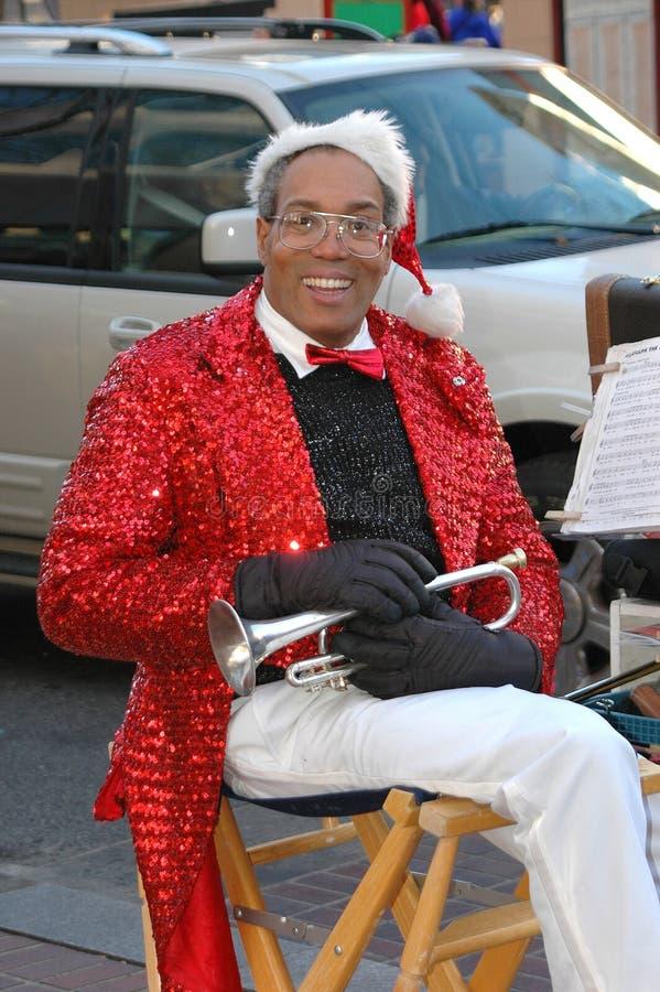 Trompettiste de Noël photo stock