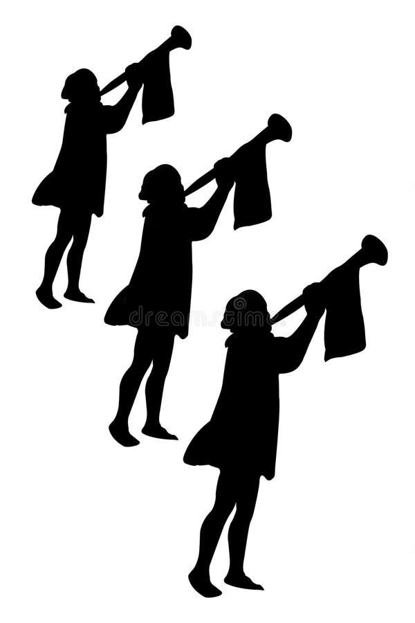 Trompettistes illustration stock