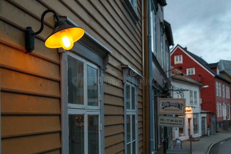 Tromse, Noruega Main Street imagem de stock royalty free