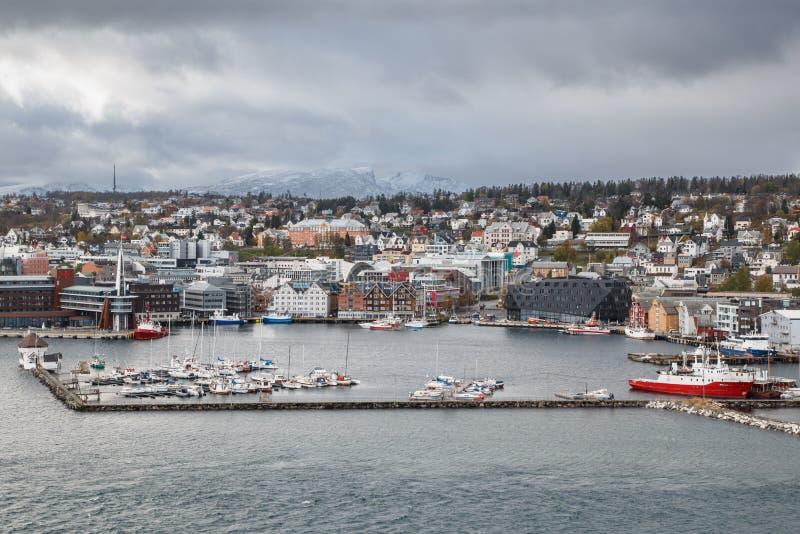 Tromse, Noruega Vista geral fotos de stock