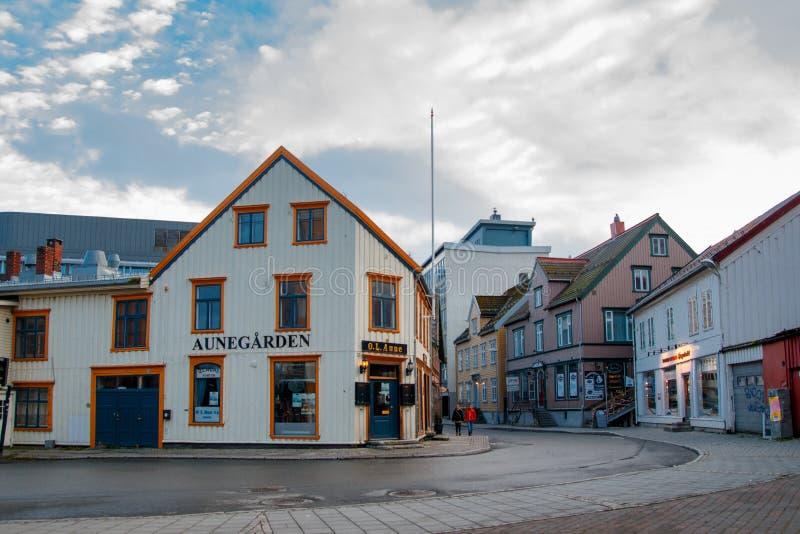 Tromse, Norvegia Ristorante di Aunegarden fotografia stock
