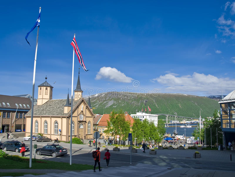 Download Tromso centre stock image. Image of church, central, plaza - 10068149