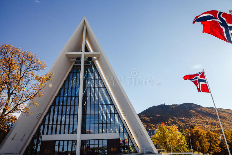 Tromso city royalty free stock images