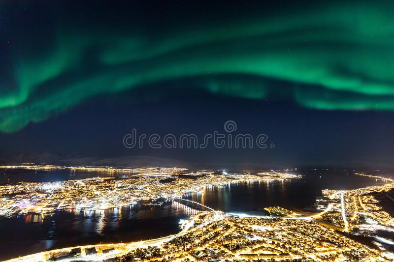 Tromso en Noruega septentrional fotografía de archivo libre de regalías