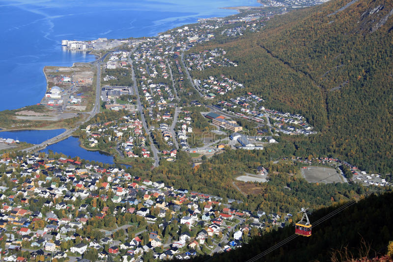 Tromso From The Hill Royalty Free Stock Photography