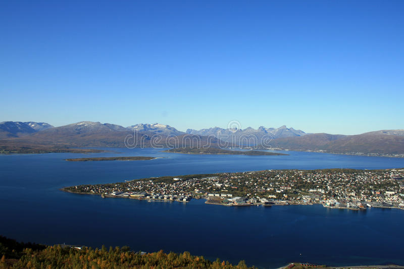 Download Tromso from the hill stock photo. Image of nord, aerial - 11903894