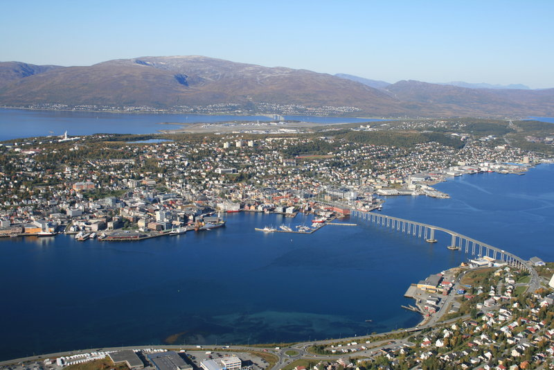 Download Tromso from the hill stock photo. Image of high, harbor - 6654968