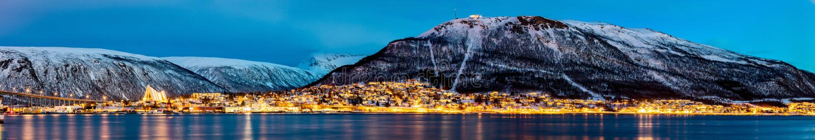 Tromso in Northern Norway stock images