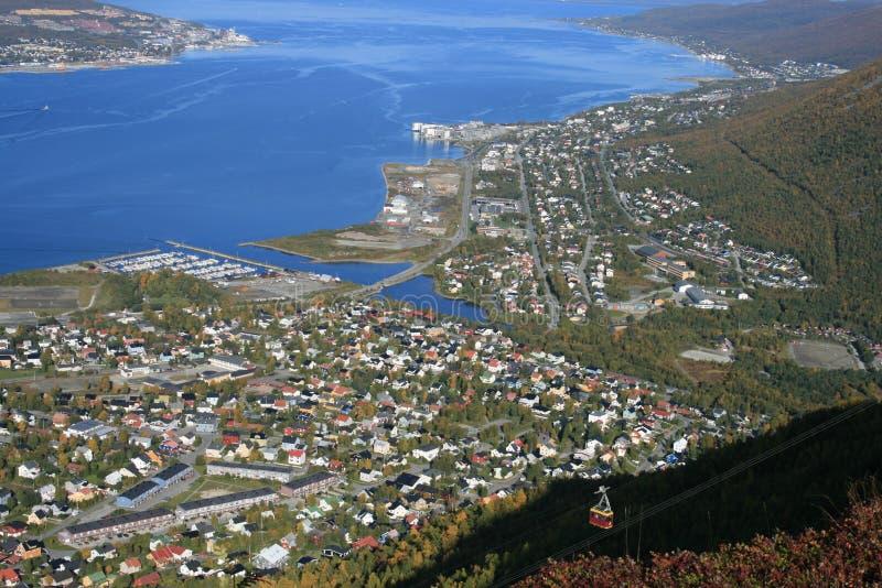 Tromso vom Hügel stockbilder