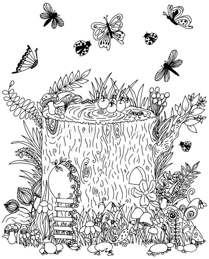 Tron on f erique avec la porte papillons illustration de - Dessin feerique ...