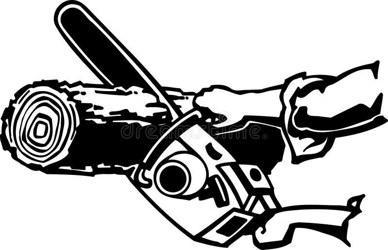 Tronçonneuse illustration de vecteur