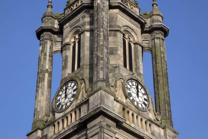 Tron Kirk Church Tower, calle real de la milla; Edimburgo imágenes de archivo libres de regalías