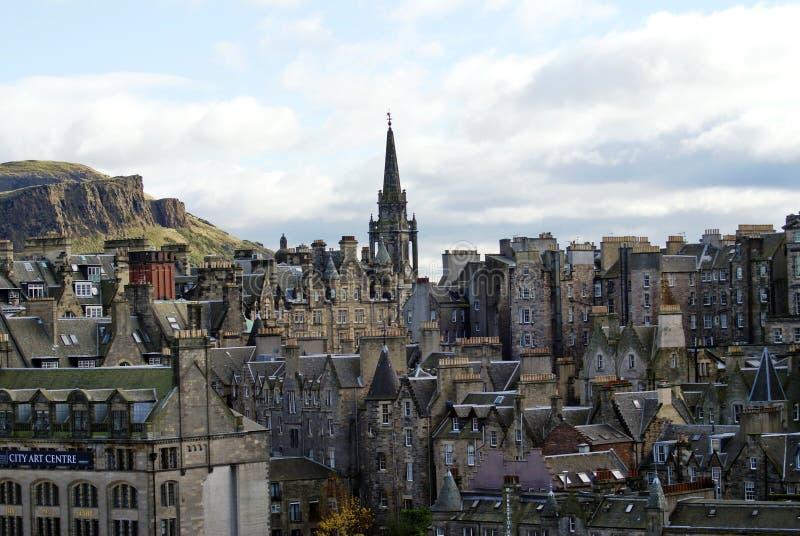 Tron Kirk Spire in Città Vecchia a Edimburgo immagini stock