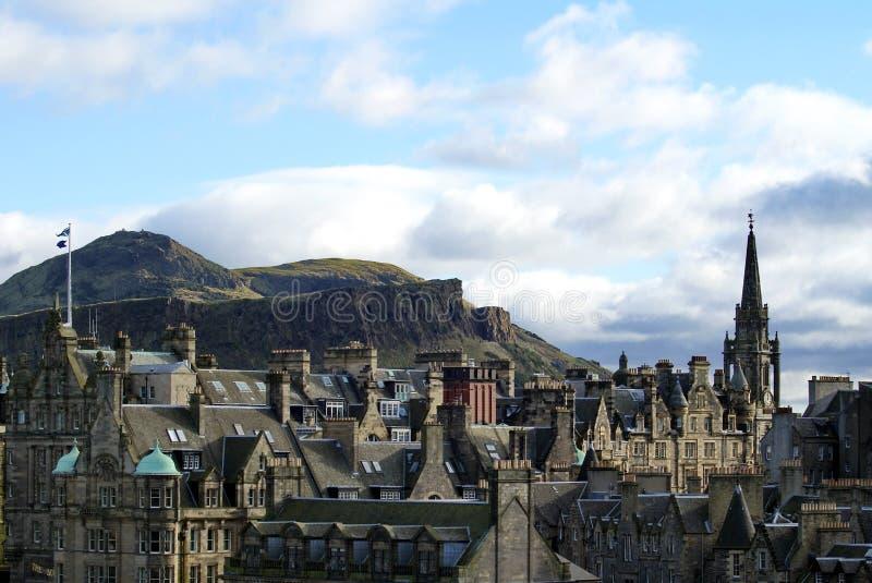Tron Kirk Spire na cidade velha em Edimburgo imagens de stock