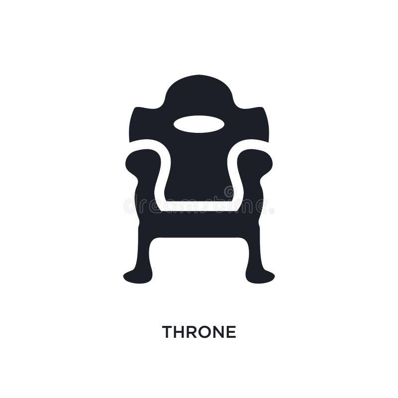 tron odosobniona ikona prosta element ilustracja od luksusowych pojęcie ikon tronowy editable logo znaka symbolu projekt na bielu royalty ilustracja