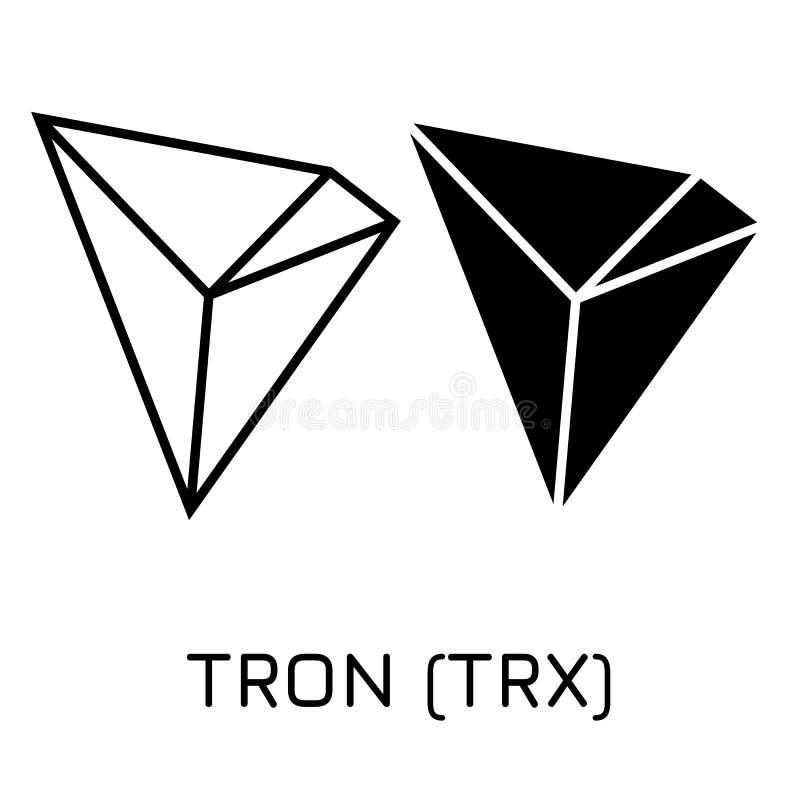 TRON TRX 传染媒介例证隐藏硬币象 库存例证