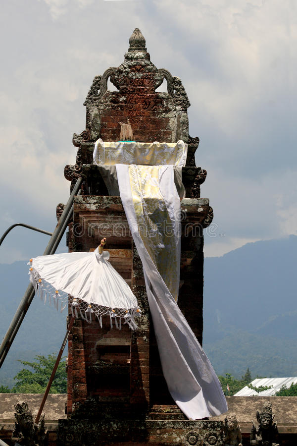 Thron in a typical Balinese temple on the Lombok island (Indonesia) royalty free stock images