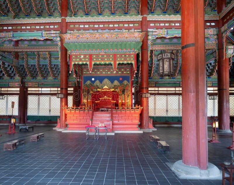 Tron w Gyeongbokgung pałac fotografia royalty free