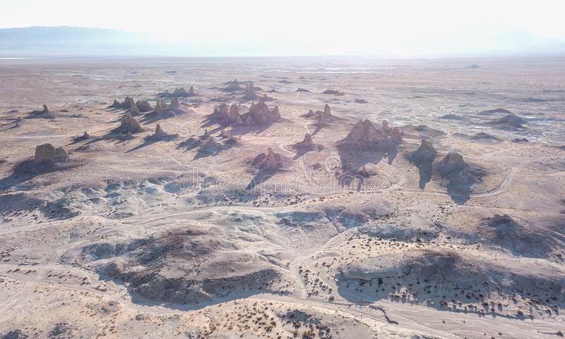 Trona-Berggipfel Kalifornien lizenzfreie stockfotos