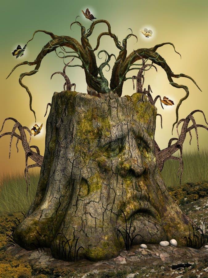 Tronco da fantasia ilustração royalty free
