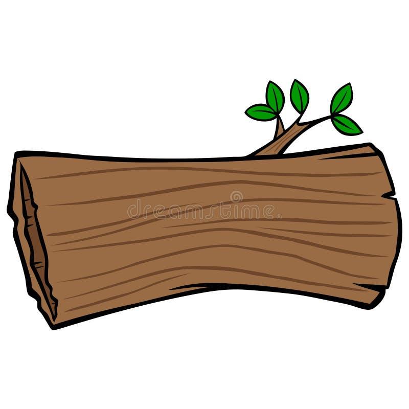 Tronco de árvore oca ilustração royalty free