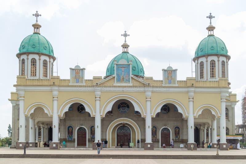 Tronco Medhane Alem Church fotografie stock