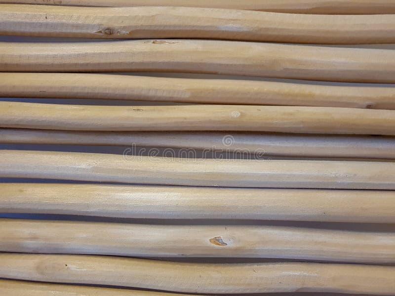 troncs décoratifs dans horizontal sur le fond blanc images libres de droits