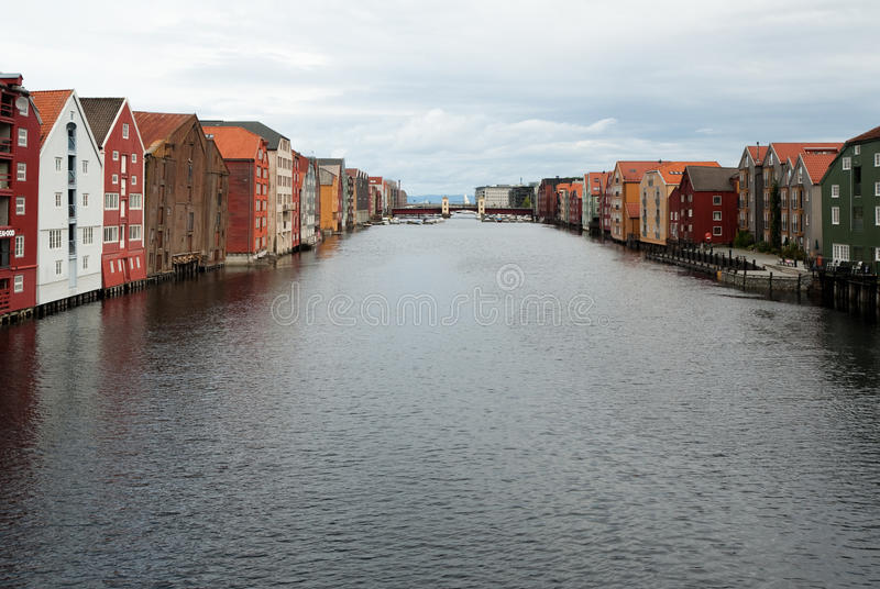 Trondheim. City scene in city of Trondheim, Norway royalty free stock photography