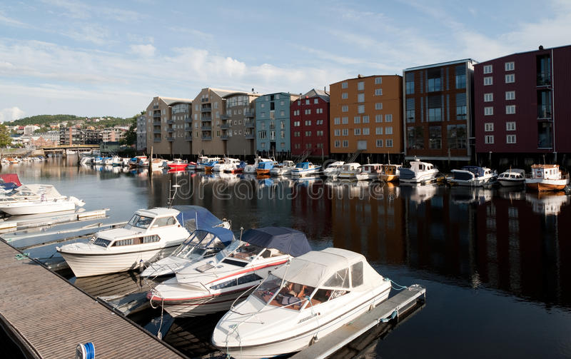 Trondheim. City scene in city of Trondheim, Norway stock photography