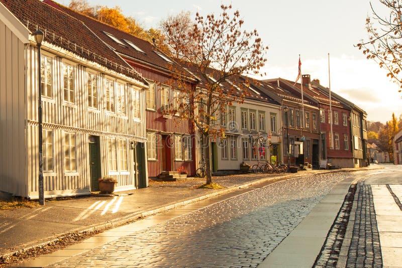 Trondheim cityscape Norge royaltyfria bilder