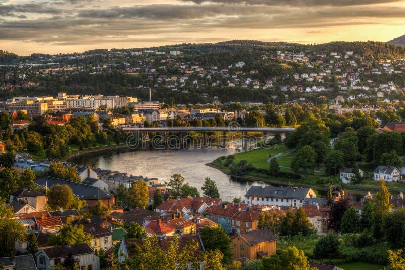 Trondheim. Elgeseter in Trondheim, Norway during the summer stock image