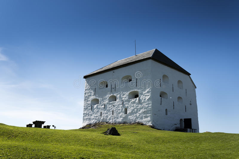 Trondheim fort. Building in summer royalty free stock photos