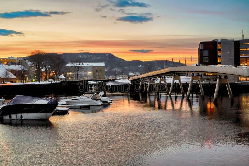 Flower Bridge in Trondheim royalty free stock images