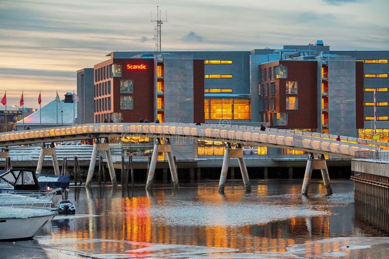 Flower Bridge, Trondheim royalty free stock image