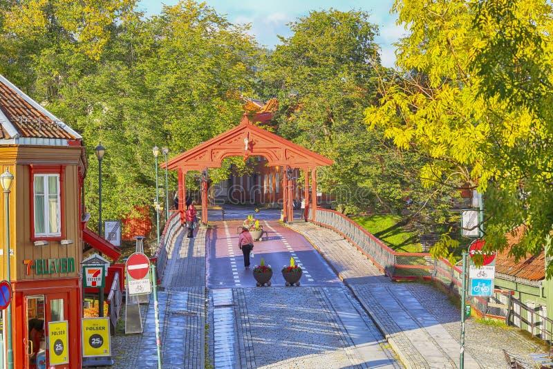 The Old Bridge Den Gamle Bybro , Trondheim stock image