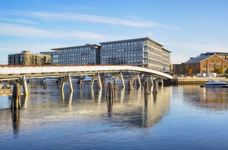 Flower Bridge, Trondheim royalty free stock photography