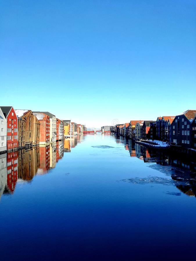 Trondheim Old Town, Norway royalty free stock photography