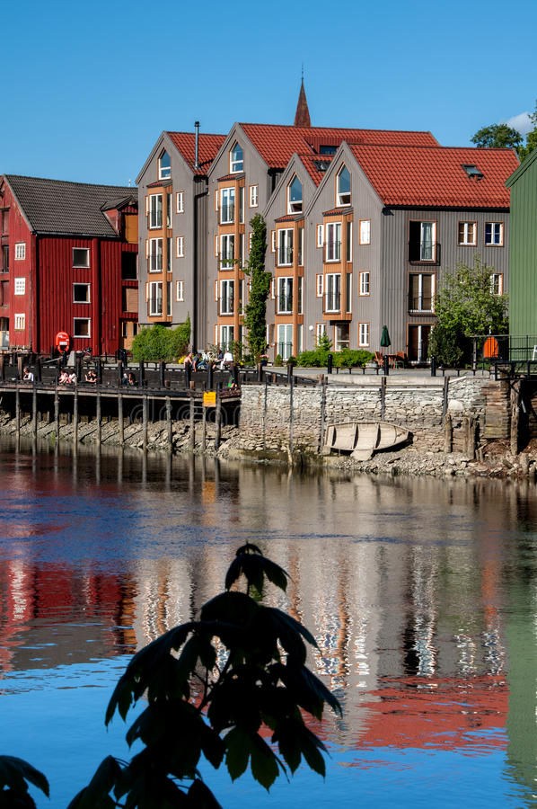 Free Trondheim Old Town View Stock Images - 56248224