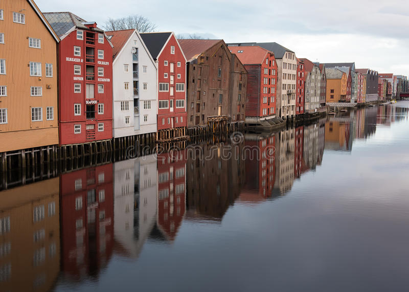 Trondheim reflection royalty free stock photography