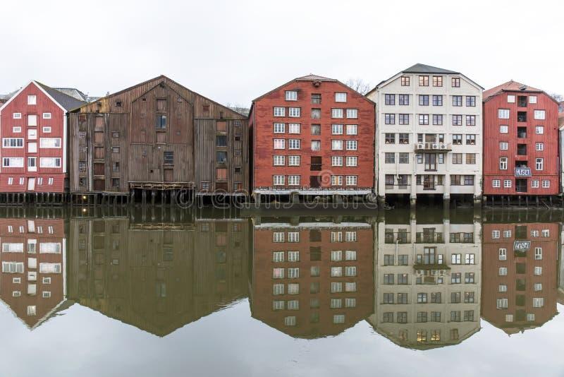 Trondheim w Norwegia obraz stock
